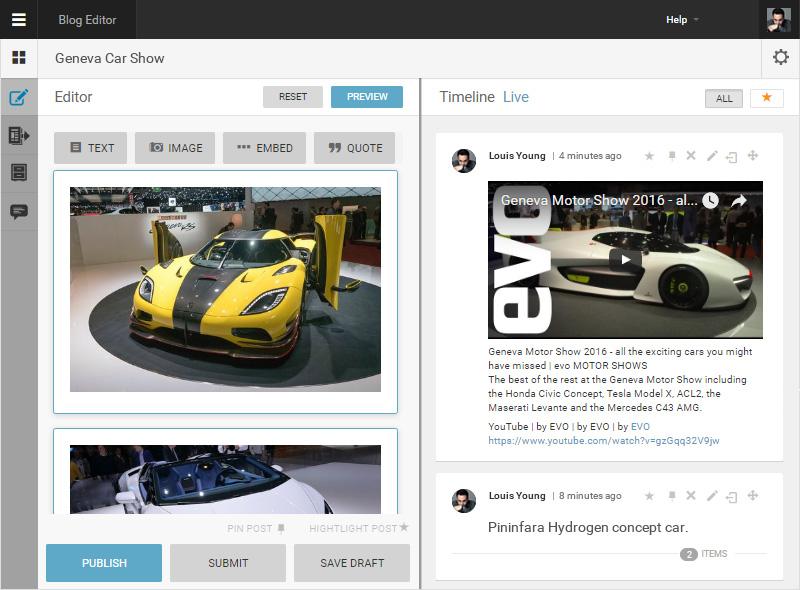 Live Blog | Professional Tool for Live Blogging