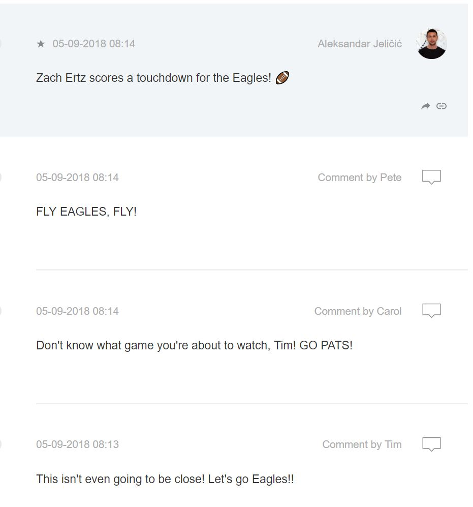 Live blogging an American Football Game