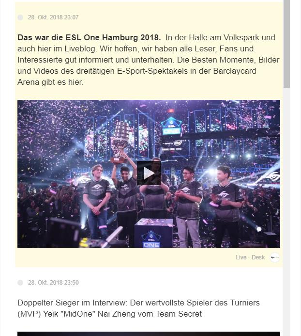 Live Blog e-sports dpa