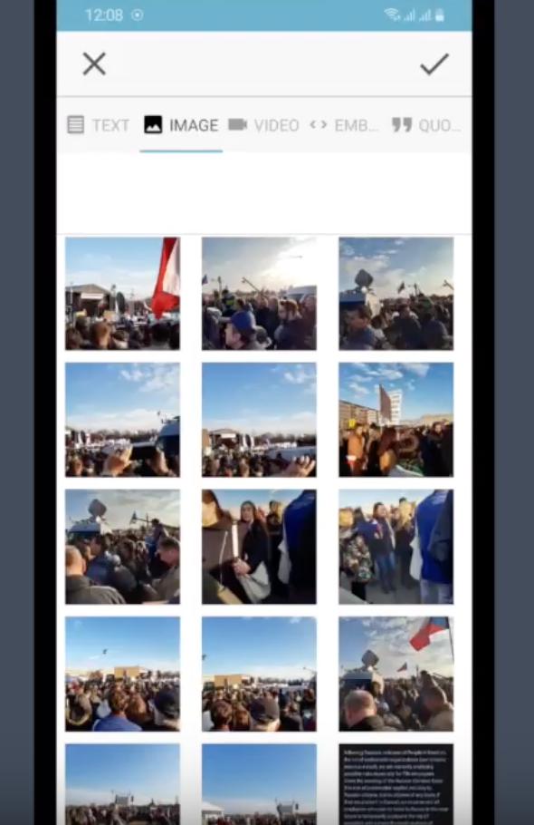 Live Blog Reporter app - adding an image